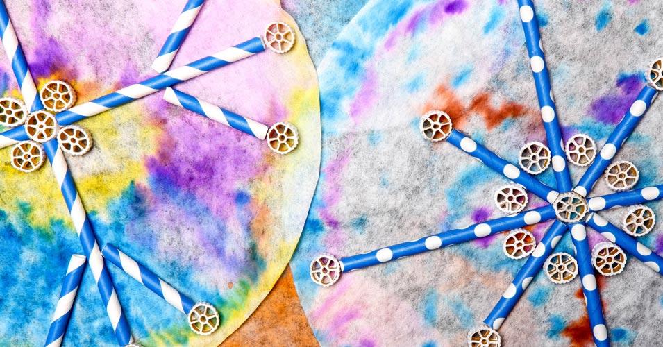 Rainbow Snowflakes